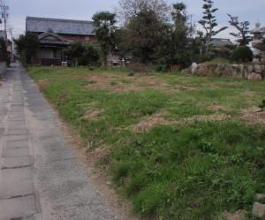岐阜県海津市 L型擁壁コンクリート設置工事前