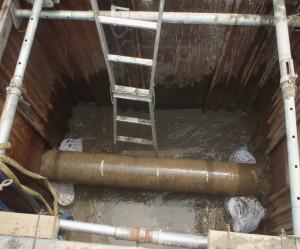 津島市 農業用パイプライン修繕工事2漏水