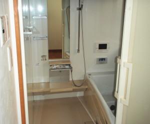 三重県桑名市 新たにバスルームにユニットバス設置 工事後